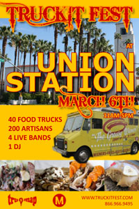 The TruckIt Fest flea market opened March 6 at Los Angeles' Union Station.