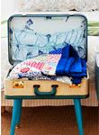 image of a suitcase table display diy