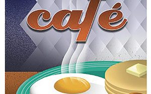 Art Deco poster of egg breakfast
