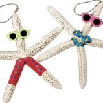 Two decorated starfish from Darlene's Shells