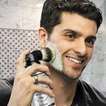 man using Legacy Shave product