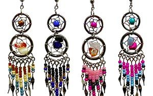 Beaded earrings from Pichincha