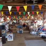 Image of open air flea marketbooths