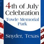 patriotic sign for Towle Memorial 4th July celebration