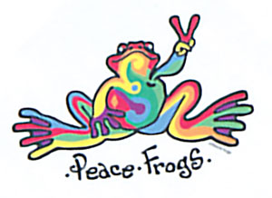 Peace Frogs Temporary Tattoo Assortments