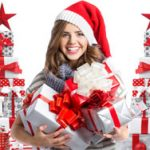Woman with lots of presents