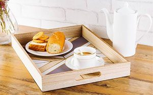 refined wood serving tray
