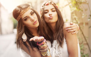 girls wearing fashion accessories